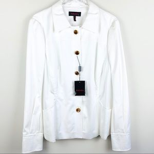 ESCADA Pleated back White Cotton Jacket